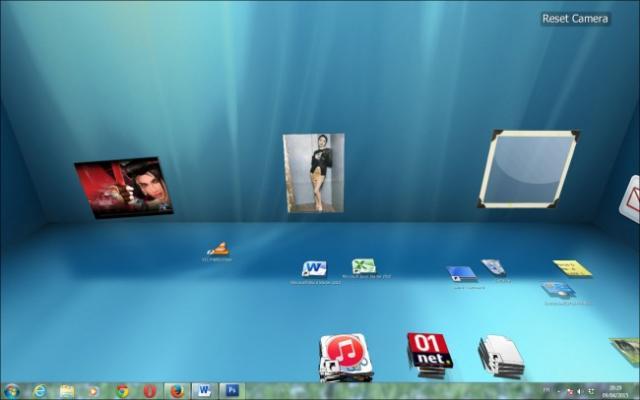 bureau en 3d sous windows 7 7