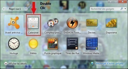 calendrier bureau windows 7 2