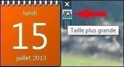 calendrier bureau windows 7 3