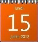 calendrier bureau windows 7 0