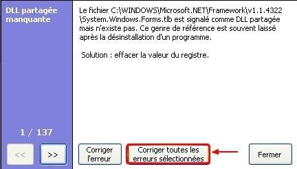 ccleaner corriger les erreurs de registre 5