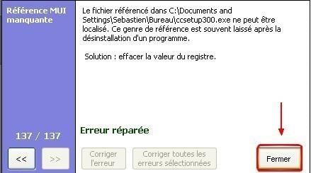 ccleaner corriger les erreurs de registre 6