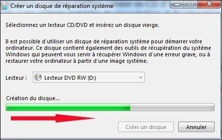 cd reparation windows 7 4