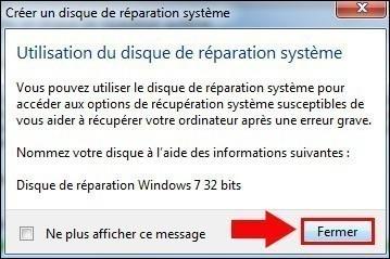 cd reparation windows 7 5