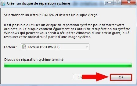 cd reparation windows 7 6