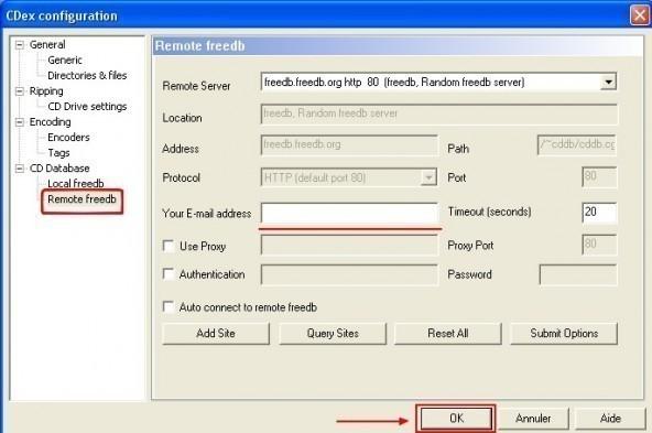 cdex chercher des informations sur un cd a partir d internet 1