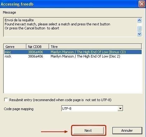 cdex chercher des informations sur un cd a partir d internet 3