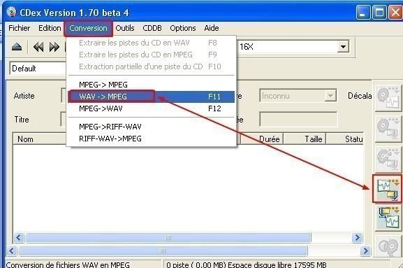 cdex convertir un wav en mp3 1