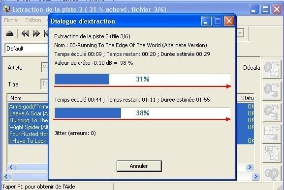 cdex extraire un cd audio en mp3 3