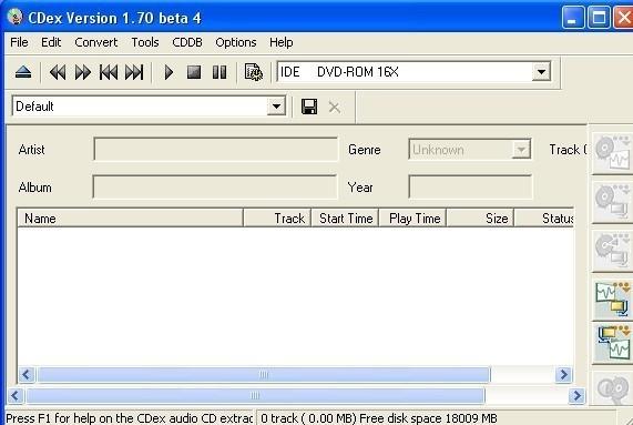 CDex extraire un cd audio en mp3