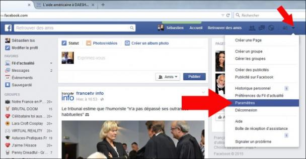 comment changer de nom sur facebook 1