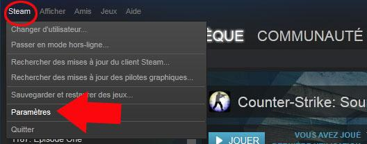 comment changer la langue de steam 1