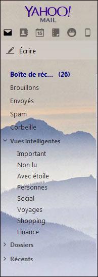 Comment changer le thème de fond de Yahoo Mail