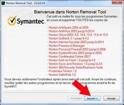 comment desinstaller un produit symantec 3