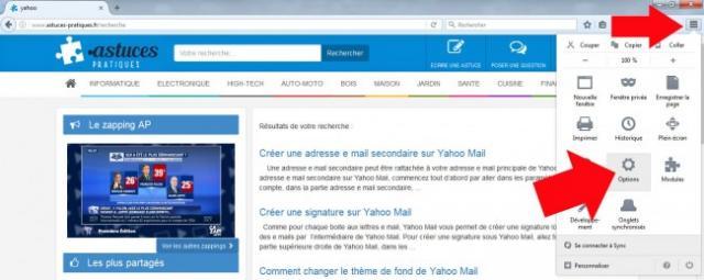 comment enlever la page d accueil yahoo sous firefox 1