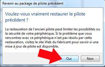 comment restaurer la version precedente du pilote graphique sous windows 7 4