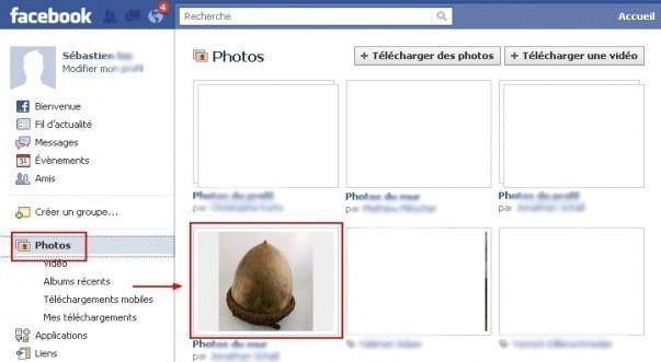Commenter une photo sur Facebook