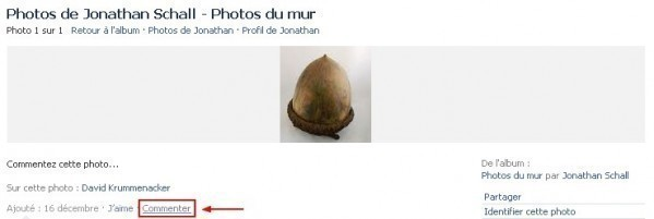 commenter une photo sur facebook 1