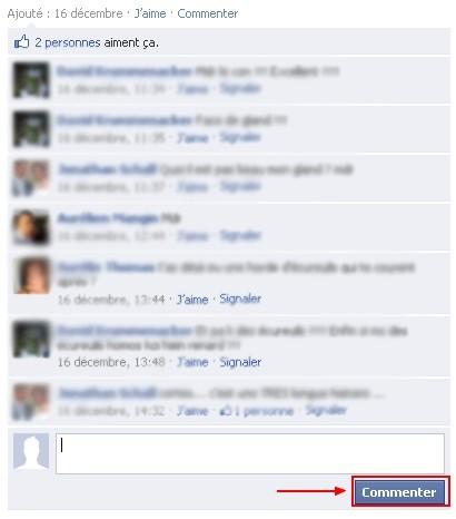 commenter une photo sur facebook 2