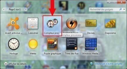 gadget windows 7 compteur processeur