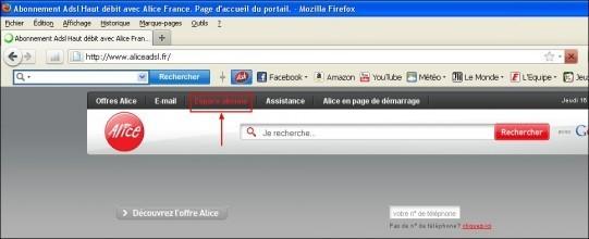 Configuration du réseau Wifi sur Alice Box