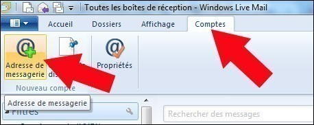configurer gmail avec windows live mail 6