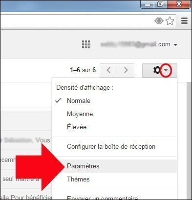 configurer gmail avec windows live mail 1