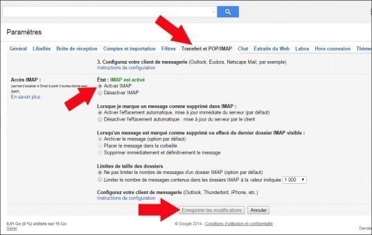 configurer gmail avec windows live mail 2