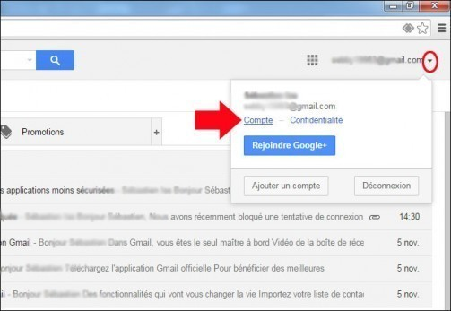 configurer gmail avec windows live mail 3