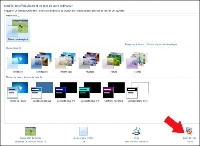Configurer un cran de veille sous windows 7 astuces for Configurer ecran pc