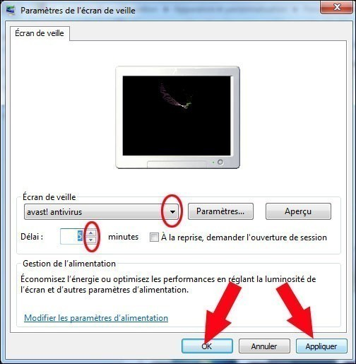 Configurer un cran de veille sous windows 7 for Configurer ecran pc