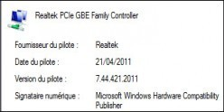connaitre la version d un pilote sous windows 7 0