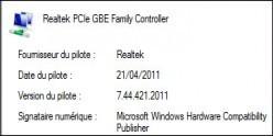 Connaître la version d'un pilote sous Windows 7