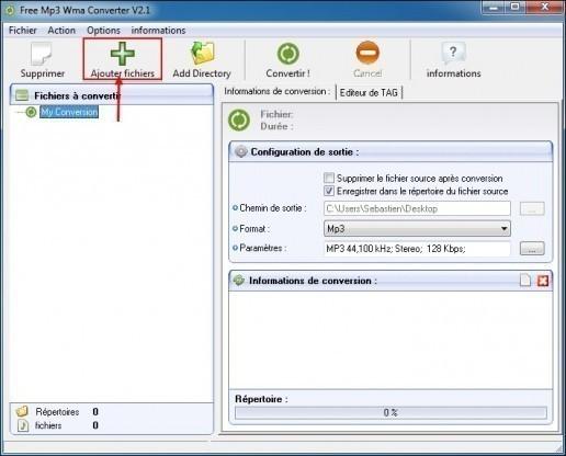 convertir un wma en mp3 avec free mp3 wma converter 1