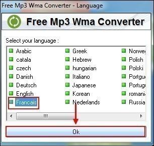 Convertir un wma en mp3 avec free mp3 wma converter