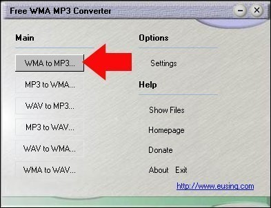 convertir un wma en mp3 avec free wma mp3 converter 4