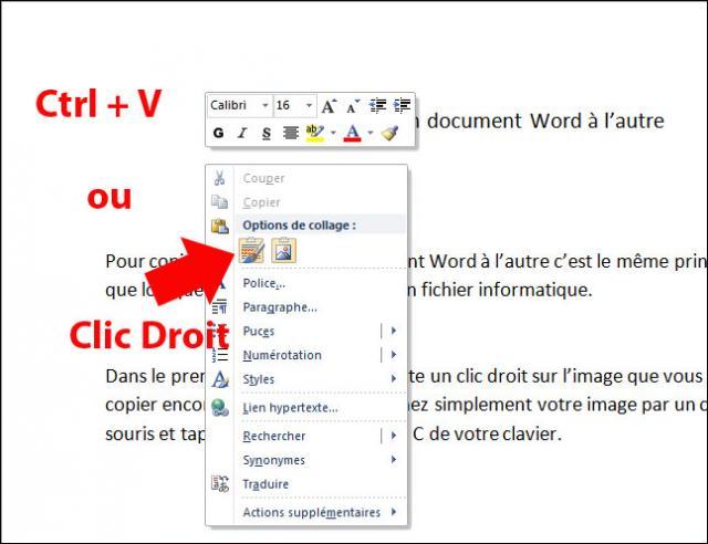 Copier une image d un document word l autre - Transferer office 2010 sur un autre pc ...