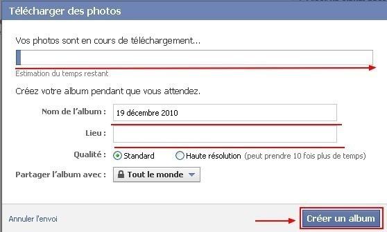 creer et gerer des albums photos sur facebook 3