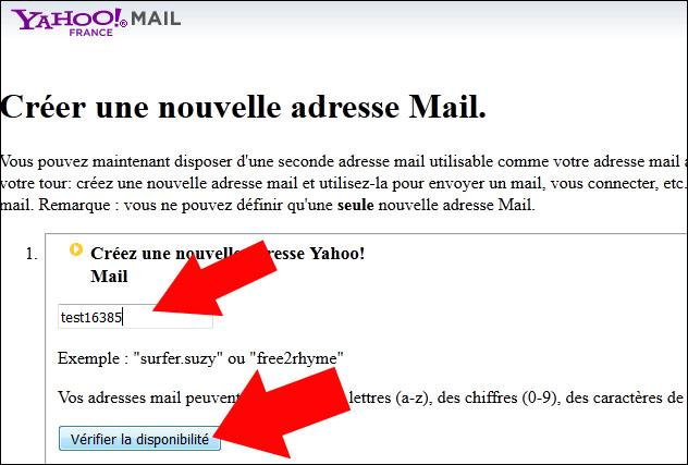 creer une adresse email secondaire sur yahoo mail 3