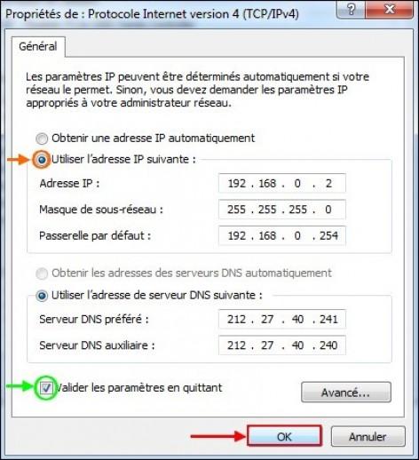 creer une ip fixe sur windows 7 5