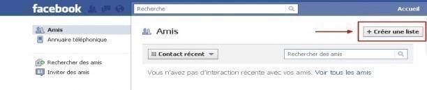 creer une liste d amis sur facebook 1