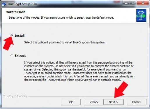 creer une partition securisee avec truecrypt 1