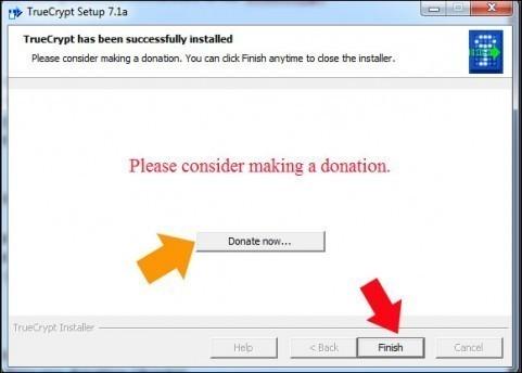 creer une partition securisee avec truecrypt 2