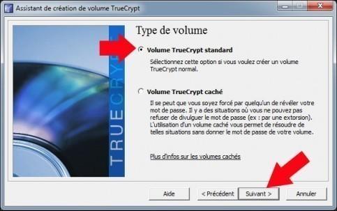 creer une partition securisee avec truecrypt 11