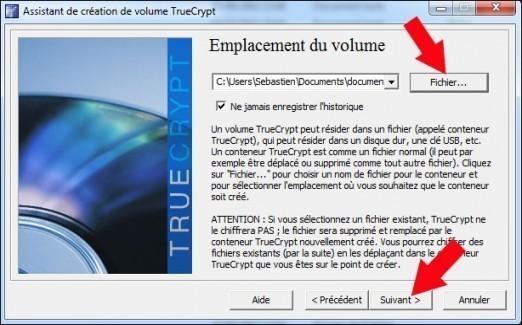 creer une partition securisee avec truecrypt 12