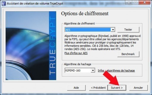 creer une partition securisee avec truecrypt 13