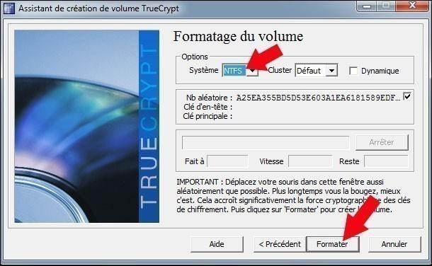 creer une partition securisee avec truecrypt 17