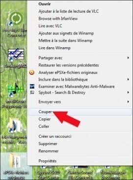 deplacer et ranger un fichier ou dossier sur windows 1