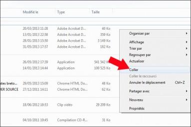 deplacer et ranger un fichier ou dossier sur windows 2