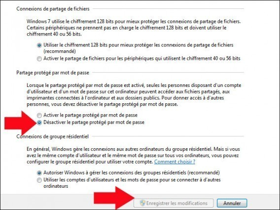 desactiver le partage protege par mot de passe windows 7 5